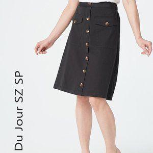 Du Jour Petite Button Front Utility Skirt